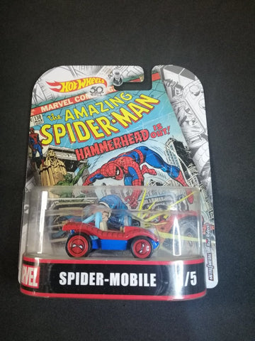 Spider-Mobile Marvel Real Rider Hot Wheels