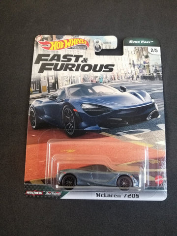 McLaren 720S Fast Euro Fast and Furious Real Riders Hot Wheels