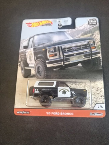 85 Ford Bronco Wild Terrain Car Culture Real Riders Hot Wheels