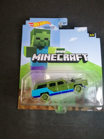 Zombie Minecraft Character Car Hot Wheels