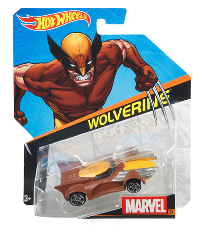 Wolverine Brown Character Car Marvel Hot Wheels - Collectibles_City