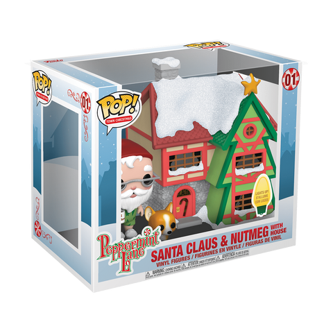 Santa Claus & Nutmeg with House Funko Pop Vinyl - Collectibles_City