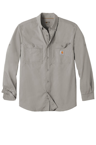 CT102418 Carhartt Force Ridgefield Solid Long Sleeve Shirt