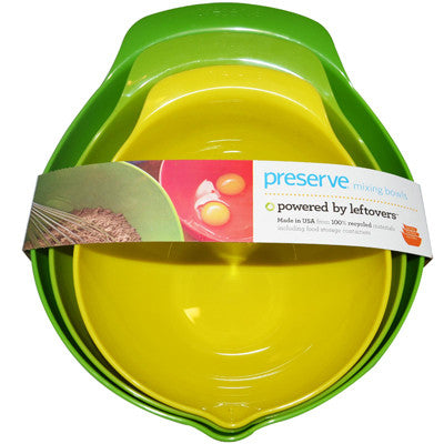 Preserve Mixing Bowl Set - Case of 4 - 3 Bowls Per Set