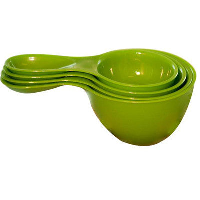 Preserve Measuring Cups Snap - Together Set - Green - Case of 6 - 4 Pack