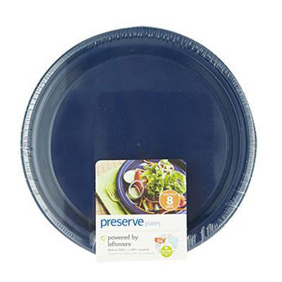 Preserve Large Reusable Plates - Midnight Blue - Case of 12 - 8 Pack - 10.5 in