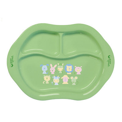 Green Sprouts Eco-Friendly Cornstarch Divided Plate - Green