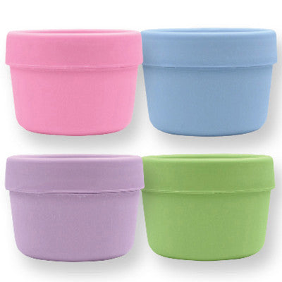 Green Sprouts Snack Cups - Stage 2 and Up - Girls Assorted Colors - 4 Pack