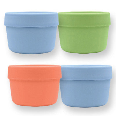 Green Sprouts Snack Cups - Stage 2 and Up - Boys Assorted Colors - 4 Pack