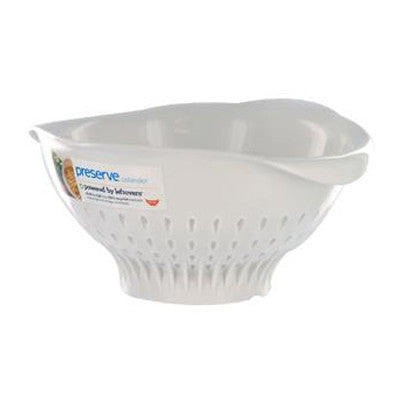 Preserve Large Colander - White - Case of 4 - 3.5 qt