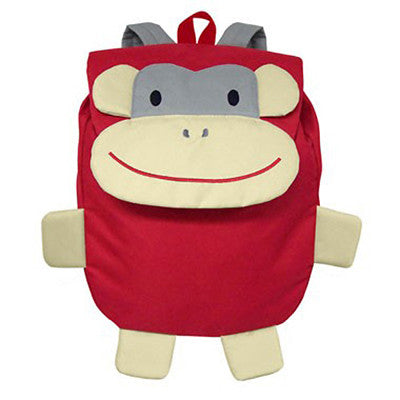 Green Sprouts Safari Backpack - Red Monkey