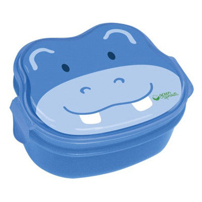 Green Sprouts Safari Bento Box - Blue Hippo