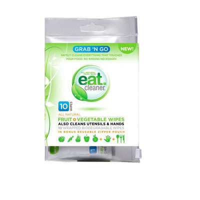 Eat Cleaner Grab N'Go Fruit and Vegetable Wipes - 10 Count
