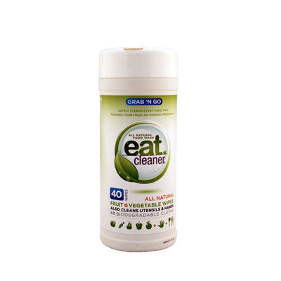 Eat Cleaner Grab N'Go Fruit and Vegetable Wipes - 40 Count