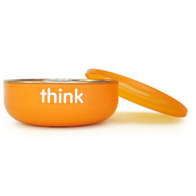 Thinkbaby BPA Free Low Wall Baby Bowl - Orange