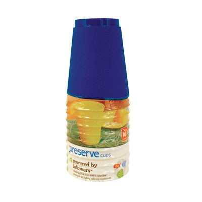 Preserve Tumblers Reusable Cups - Midnight Blue - 10 Pack - 16 oz.