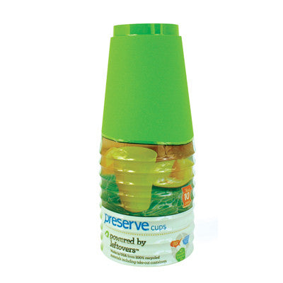 Preserve Tumblers Reusable Cups - Apple Green - 10 Pack - 16 oz.