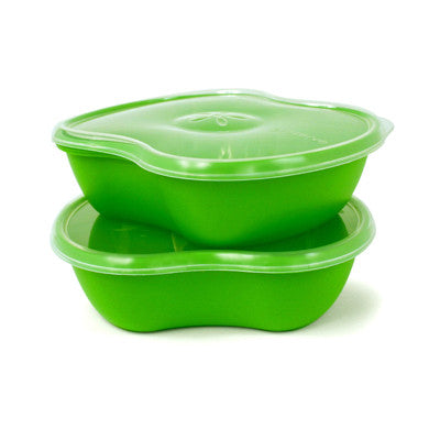 Preserve Square Food Storage Set - Green - Set of 2