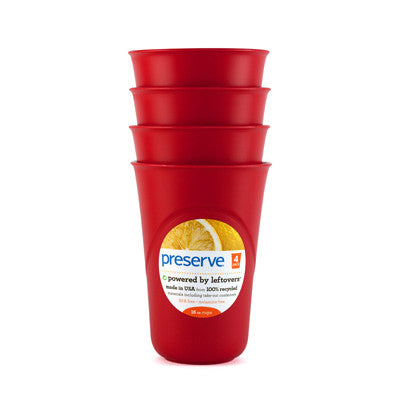 Preserve Everyday Cups - Pepper Red - 4 Packs