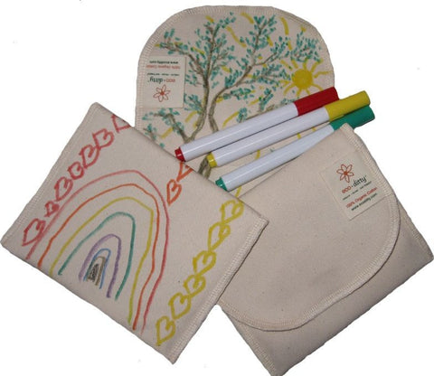 Snack Ditty organic snack bag, Color Your Own