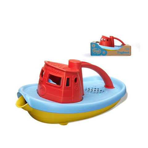 Green Toys Tugboat with Red top