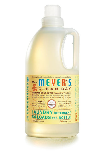 Mrs. Meyers Clean Day Baby Blossom Laundry Detergent 64 Loads, 64 oz