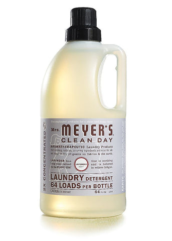 Mrs. Meyers Clean Day Laundry Detergent 64 Loads, Lavender.