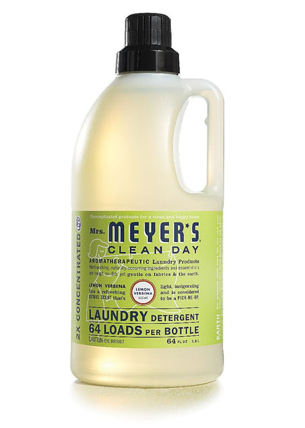 Mrs. Meyers Clean Day Laundry Detergent 64 Loads, Lemon Verbena, 64 oz
