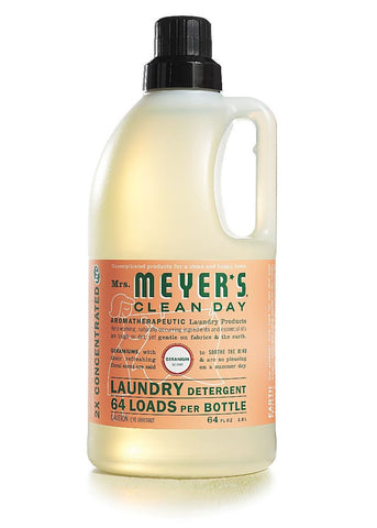 Mrs. Meyers Clean Day Laundry Detergent 64 Loads, Geranium, 64 oz