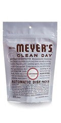 Mrs. Meyers Clean Day Automatic Dishwashing Soap Packs, Lavender, 12.7 oz.