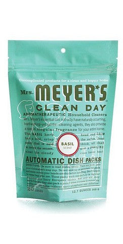 Mrs. Meyers Clean Day Automatic Dishwashing Soap Packs, Basil, 12.7 oz.
