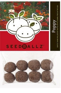 SeedBallz, Poppy, 8 balls per pack.