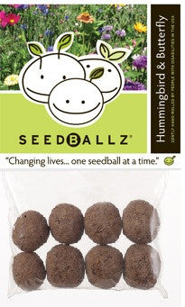 SeedBallz, Hummingbird / Butterfly Mix, 8 balls per pack.