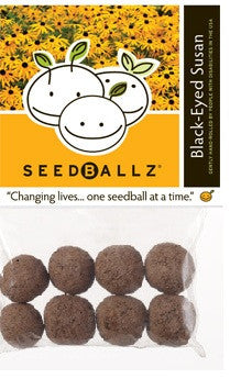 SeedBallz, Black-Eyed Susan, 8 balls per pack.