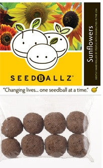 SeedBallz, Sunflower, 8 balls per pack.