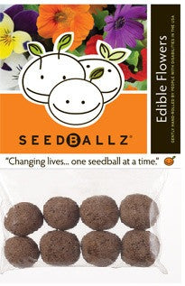 SeedBallz, Edible Flowers, 8 balls per pack.