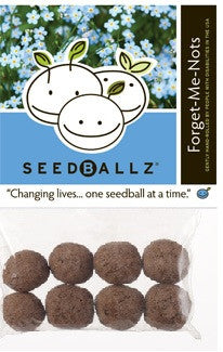 SeedBallz, Forget-Me-Not, 8 balls per pack.