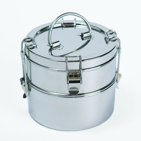 To-Go Ware 2-Tier Stainless Steel Tiffin  5 1/2 H x 6 D