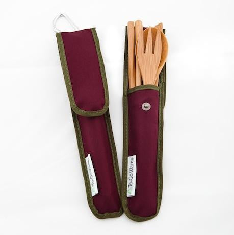 To-Go Ware RePEaT Bamboo Utensil Set in Merlot