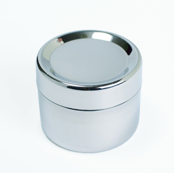 Small Stainless Steel Sidekick   2.25 H x 2.5 D.