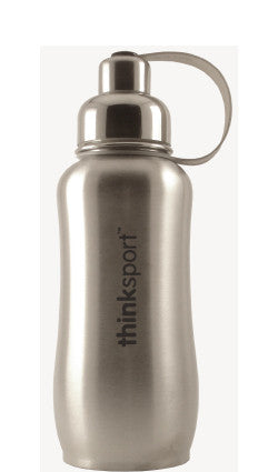 thinksport Stainless Steel Insulated Bottle, 25 oz, Color: Silver
