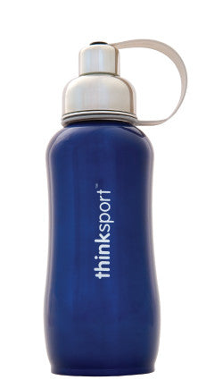 thinksport Stainless Steel Insulated Bottle, 25 oz, Color: Blue