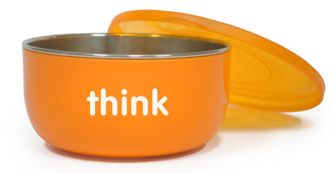 thinkbaby BPA Free Cereal Bowl, Orange