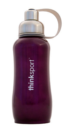 thinksport Stainless Steel Insulated Bottle, 25 oz, Color: Purple