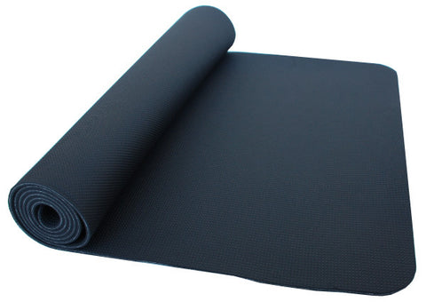 thinksport Safe Yoga Mat, 24 in x 72 in x 1/5 in, Color: black/black