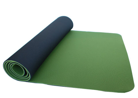 thinksport Safe Yoga Mat, 24 in x 72 in x 1/5 in,Color: black/avacado green