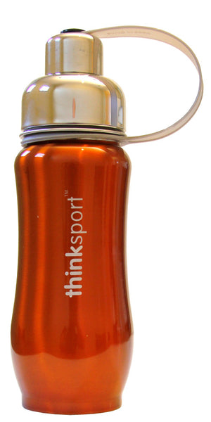 thinksport Stainless Steel Insulated Bottle, 12 oz, Color: Orange