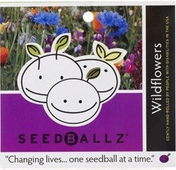 SeedBallz, Wildflower Mix, 8 balls per pack.