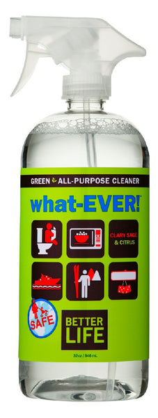 what-EVER! All-purpose Cleaner, Clary Sage & Citrus, 32 oz.