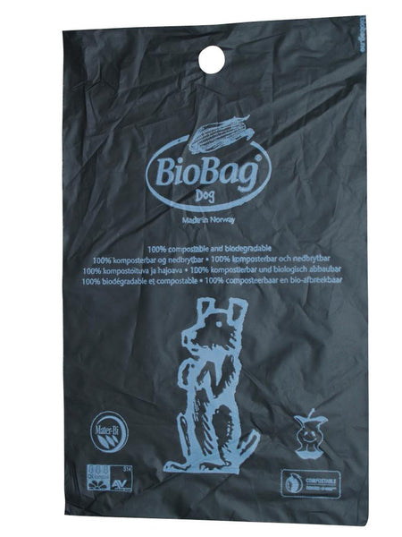 Dog Waste Bio Bags, 20 bags per roll, 2 rolls per box.